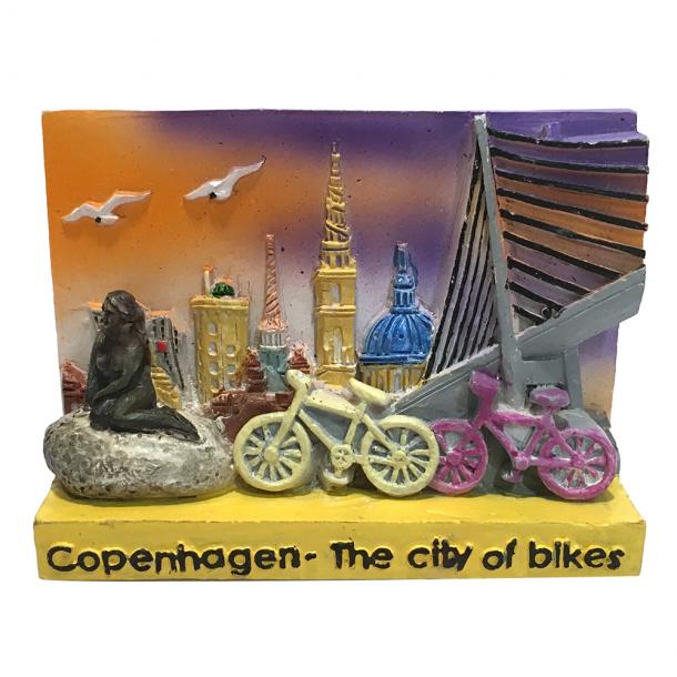 Magnet Cykel Og Bro 3D