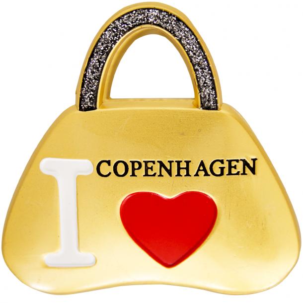 Clipmagnet I Love CPH Taske