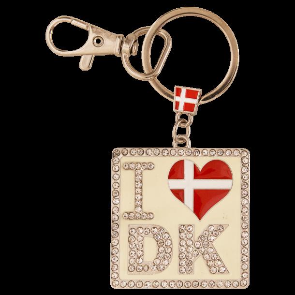 Nøglering I Heart DK