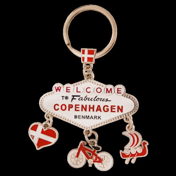 Nøglering Fabulous Copenhagen Sølv