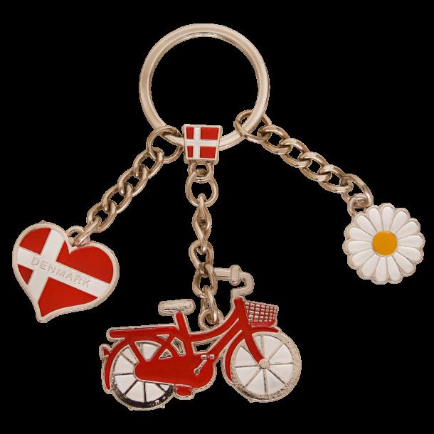 Nøglering Cykel Hjerteflad Marguerit