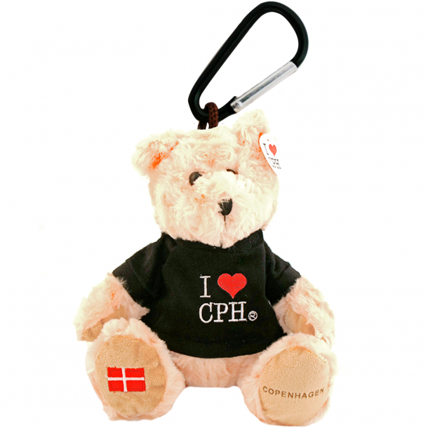Nøglering Plys I Love CPH Sort