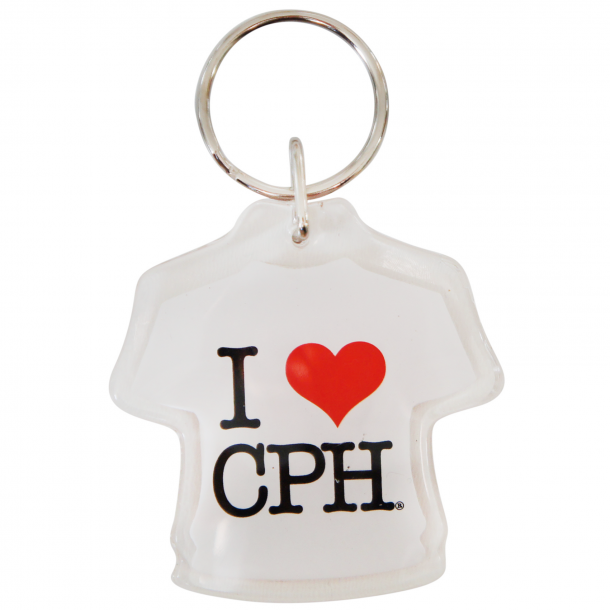 Nøglering I Love CPH T-shirt