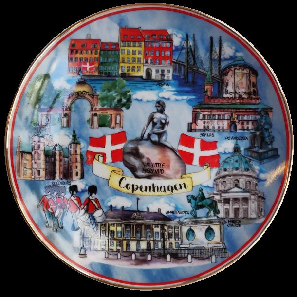 Platte København Attraktioner 20 cm.