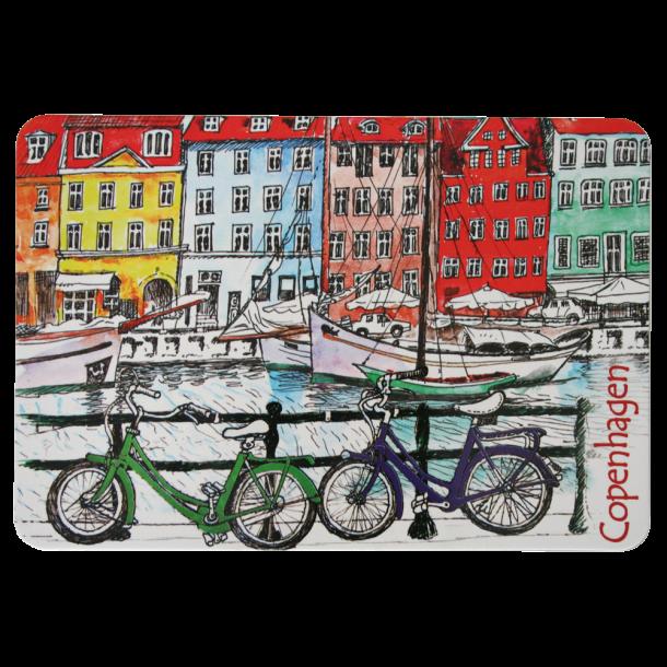 Postkort Nyhavn Cykler
