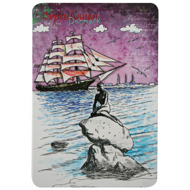 Postkort Den Lille Havfrue