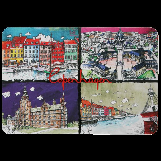 Postkort Copenhagen Collage