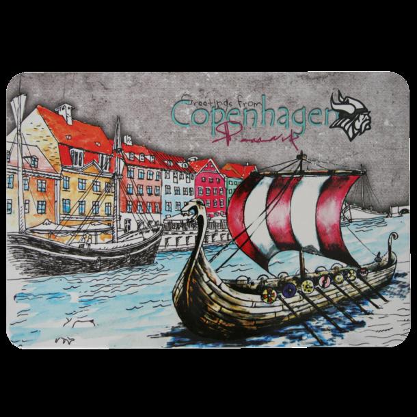 Postkort Nyhavn Vikingeskib