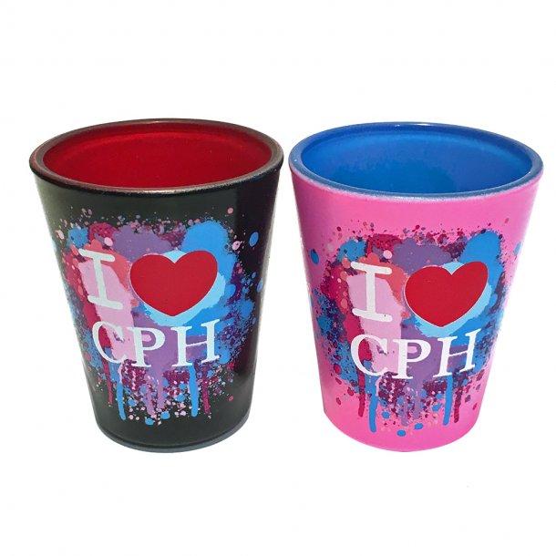 Shotglas I Love CPH 2 Styk
