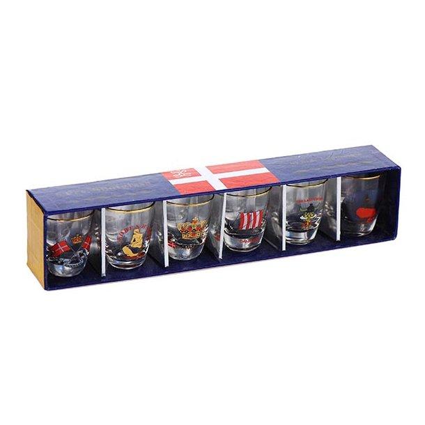 Shotglas Forskellige Motiver 6 Styk