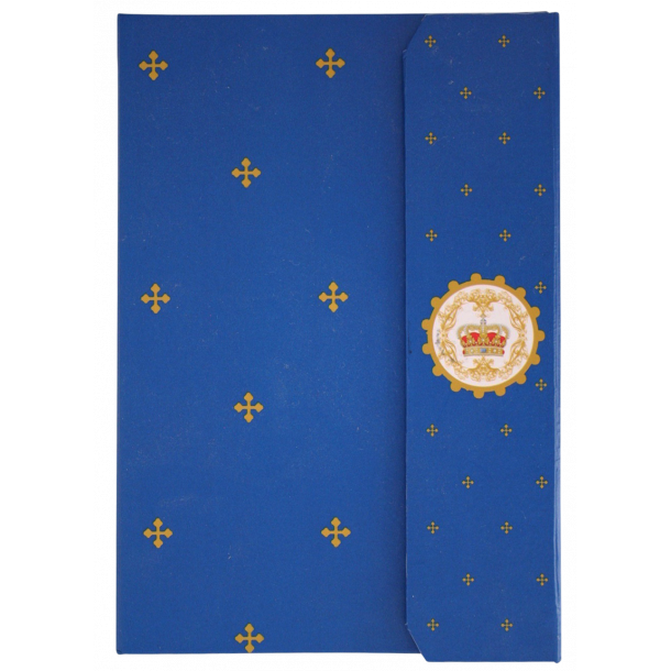 Notesbog Royal Danish Monarchy Kongeblå