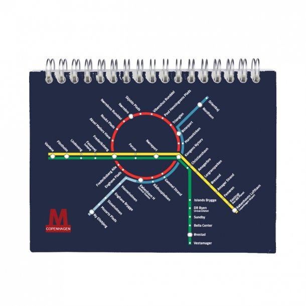 Notesbog Metro Blå