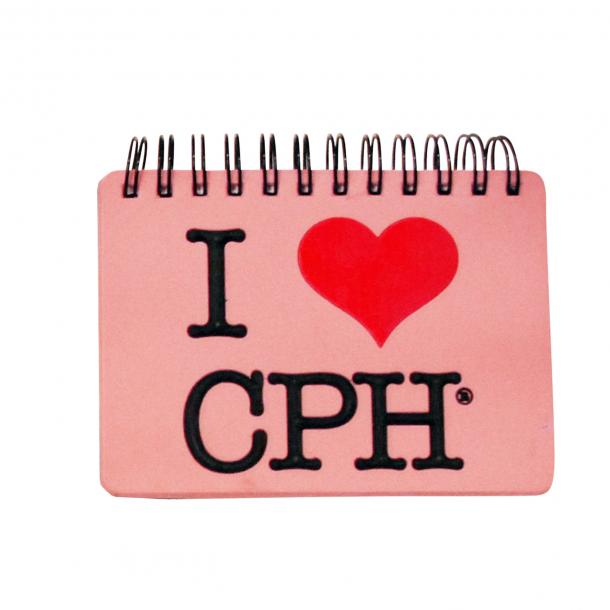 Notesbog I Love CPH Lyserød