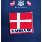 Stofmærke Dannebrog Tekst Danmark Lille