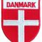Stofmærke Dannebrog Våbenskjold Tekst Danmark Lille