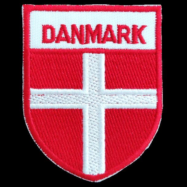 Stofmærke Dannebrog Våbenskjold Tekst Danmark Stor