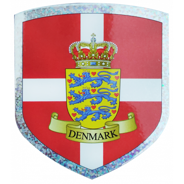 Klistermærke Våbenskjold Flag