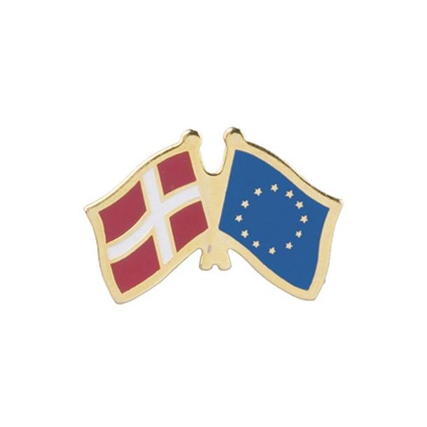 Pin Flag: Danmark/EU
