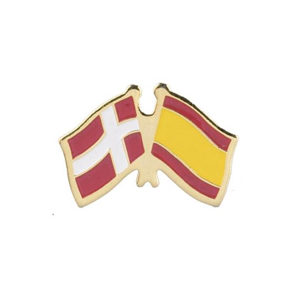 Pin Flag Danmark/Spanien