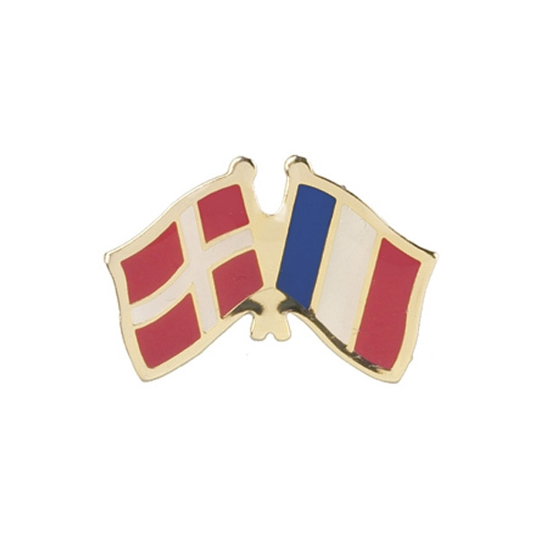 Pin Flag Danmark/Frankrig