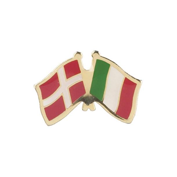 Pin Flag Danmark/Italien