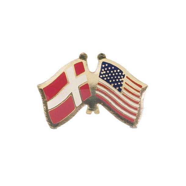 Pin Flag Danmark/USA
