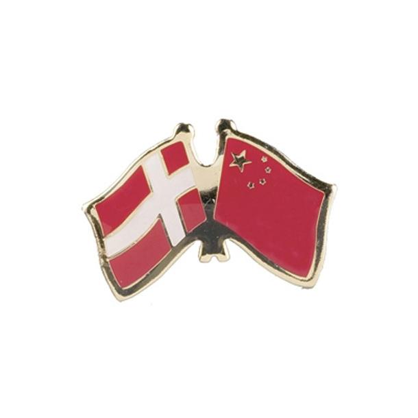 Pin Flag Danmark/Kina