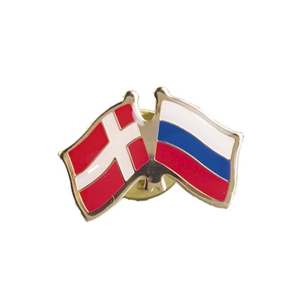 Pin Flag Danmark/Rusland