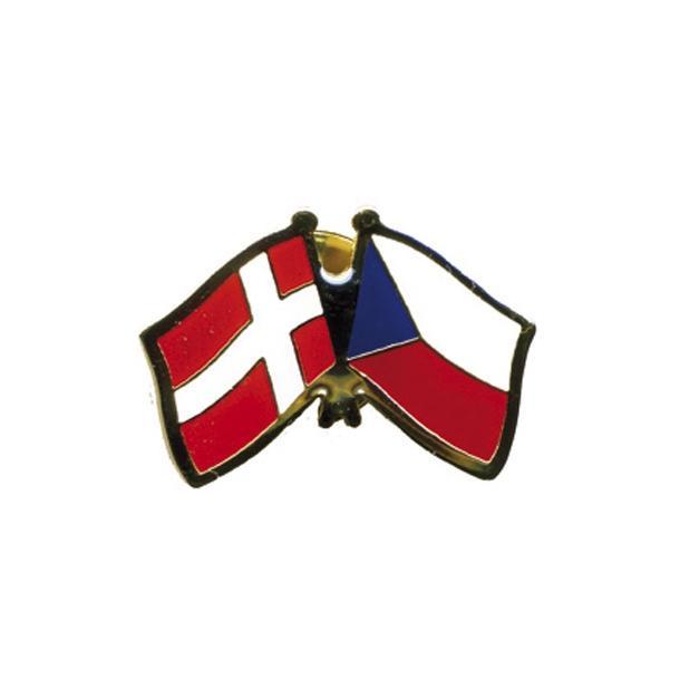Pin Flag Danmark/Tjekkiet