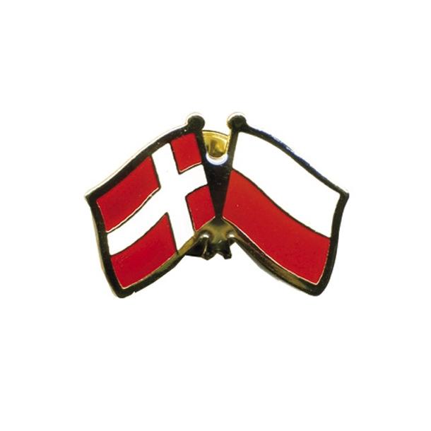 Pin Flag Danmark/Polen