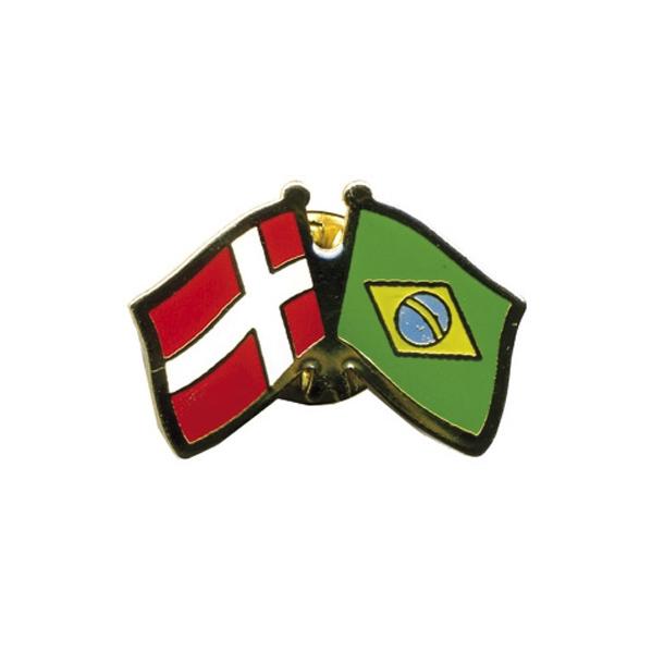 Pin Flag: Danmark/Brasilien