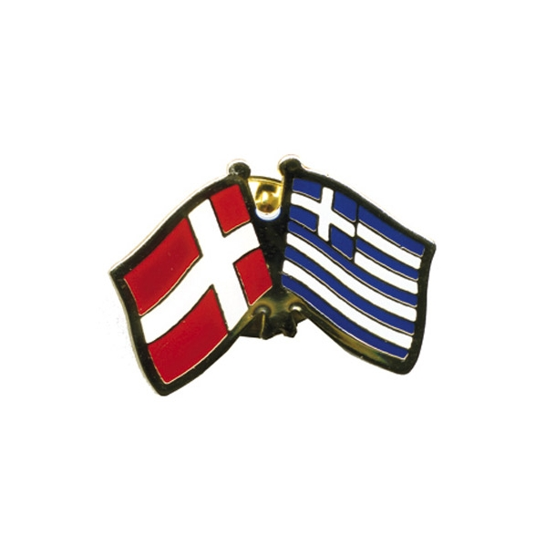 Pin Flag Danmark/Grækenland