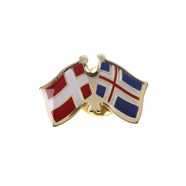 Pin Flag Danmark/Island