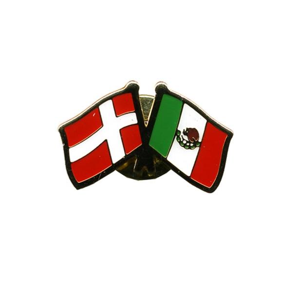 Pin Flag Danmark/Mexico