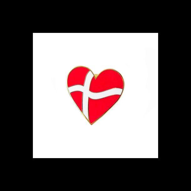 Pin Hjerteformet Dannebrog