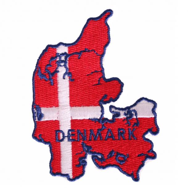 Stofmærke Danmark Og Flag
