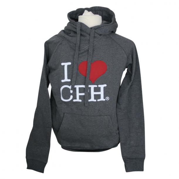 Hoodie I Love CPH Grå Voksen