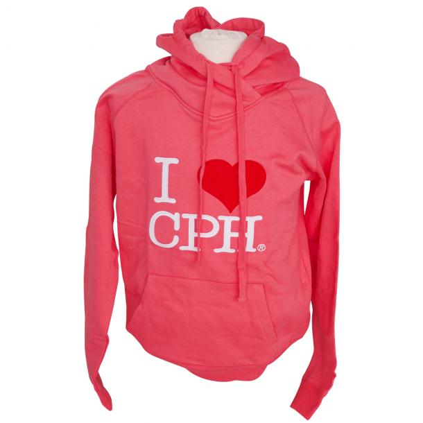Hoodie I Love CPH Pink Voksen