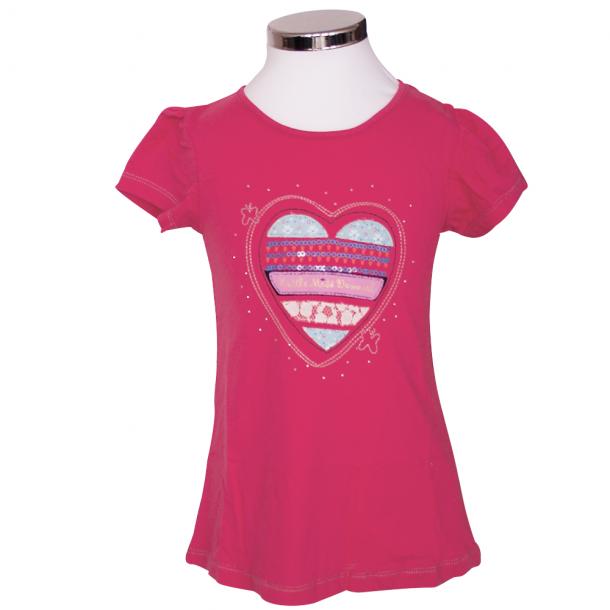 T-shirt Farvet Hjerte
