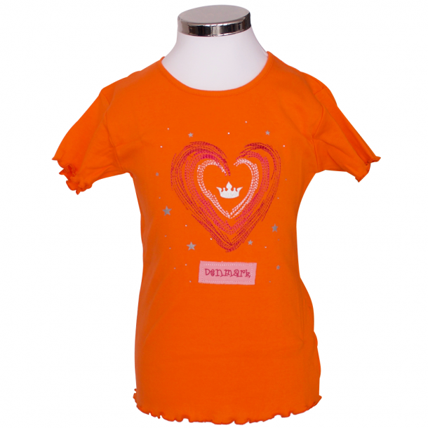 T-shirt Hjerte Orange