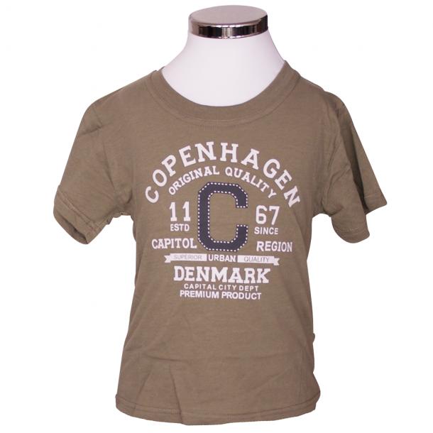 T-shirt Original Quality Khaki Grøn