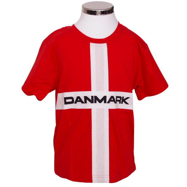 T-shirt Danmark Flag Barn