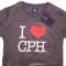 T-shirt I Love CPH Grå