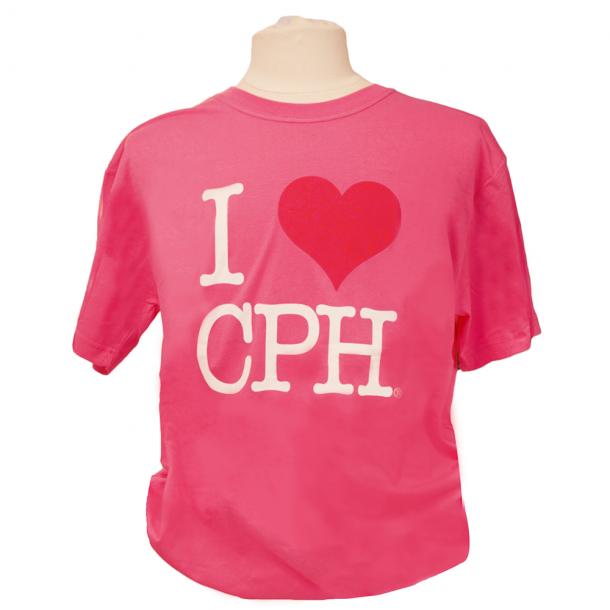 T-shirt I Love CPH Pink