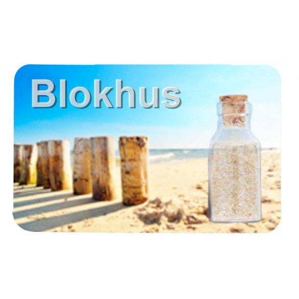 Magnet Med Flaske Søjler Vesterhavet Blokhus