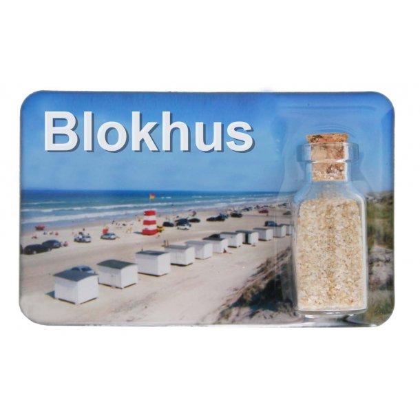 Magnet Med Flaske Huse Vesterhavet Blokhus