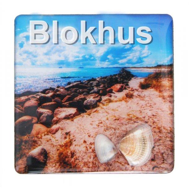 Magnet Med Musling Sten Vesterhavet Blokhus