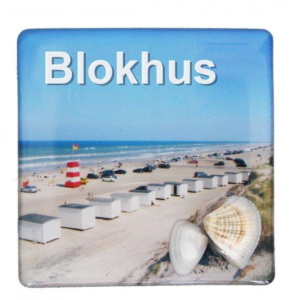 Magnet Med Musling Huse Vesterhavet Blokhus