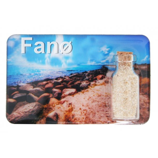 Magnet Med Flaske Sten Vesterhavet Fanø