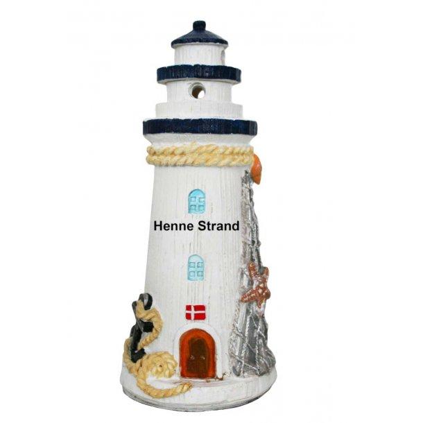 Fyrtårn Med Lys Vesterhavet Henne Strand